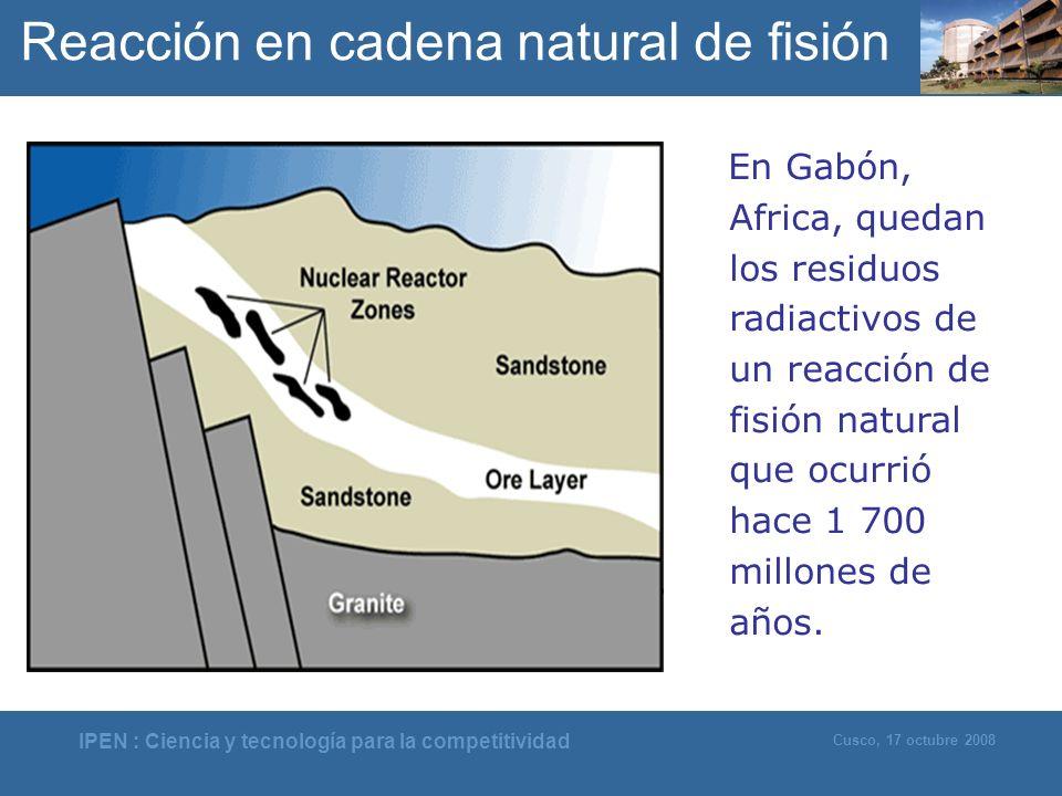 Reacción en cadena natural de fisión
