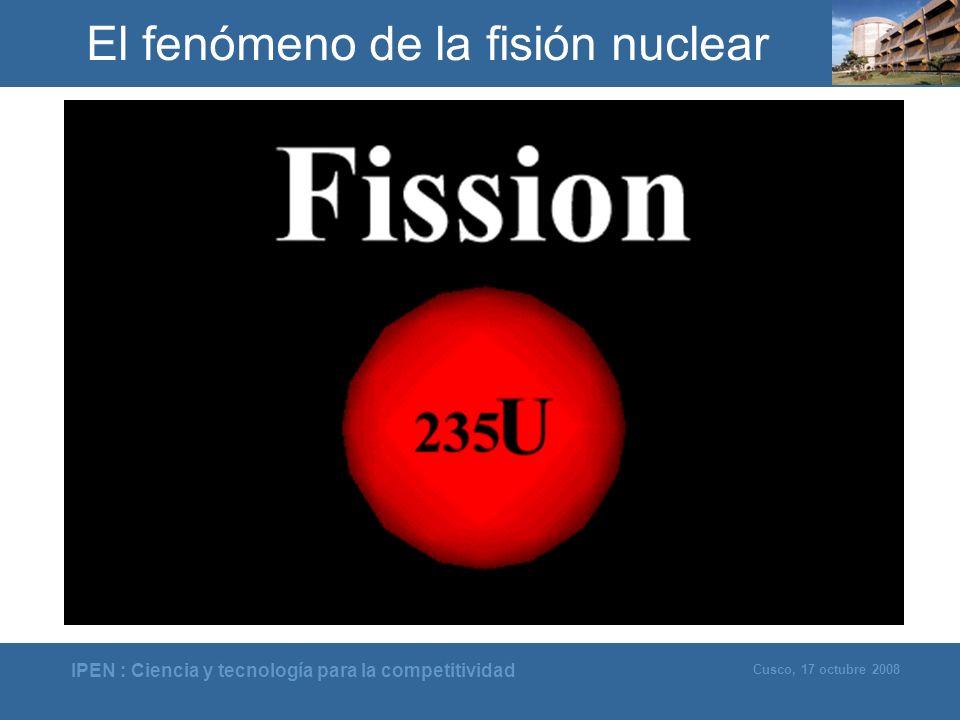El fenómeno de la fisión nuclear