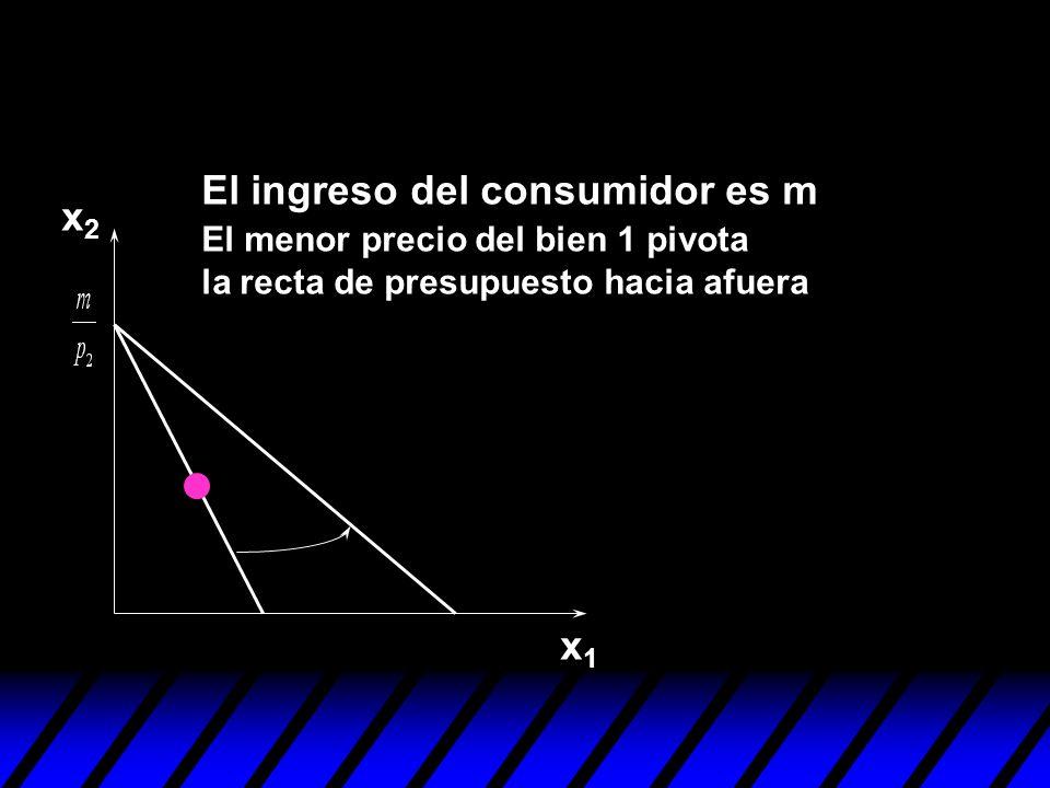 El ingreso del consumidor es m x2