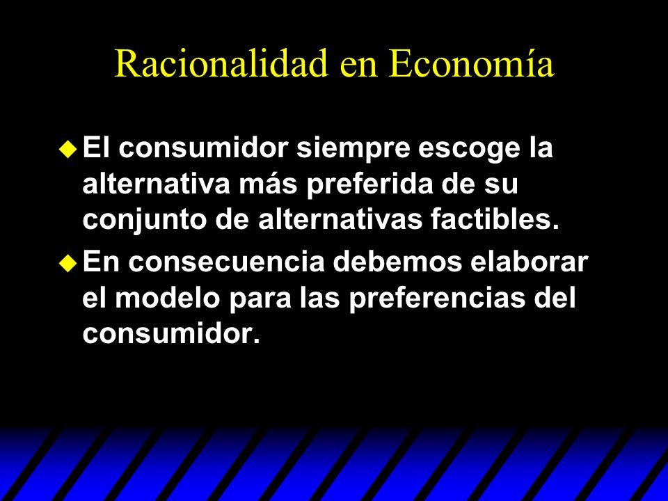 Racionalidad en Economía