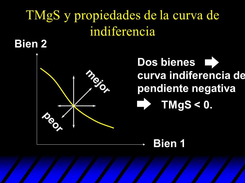 TMgS y propiedades de la curva de indiferencia