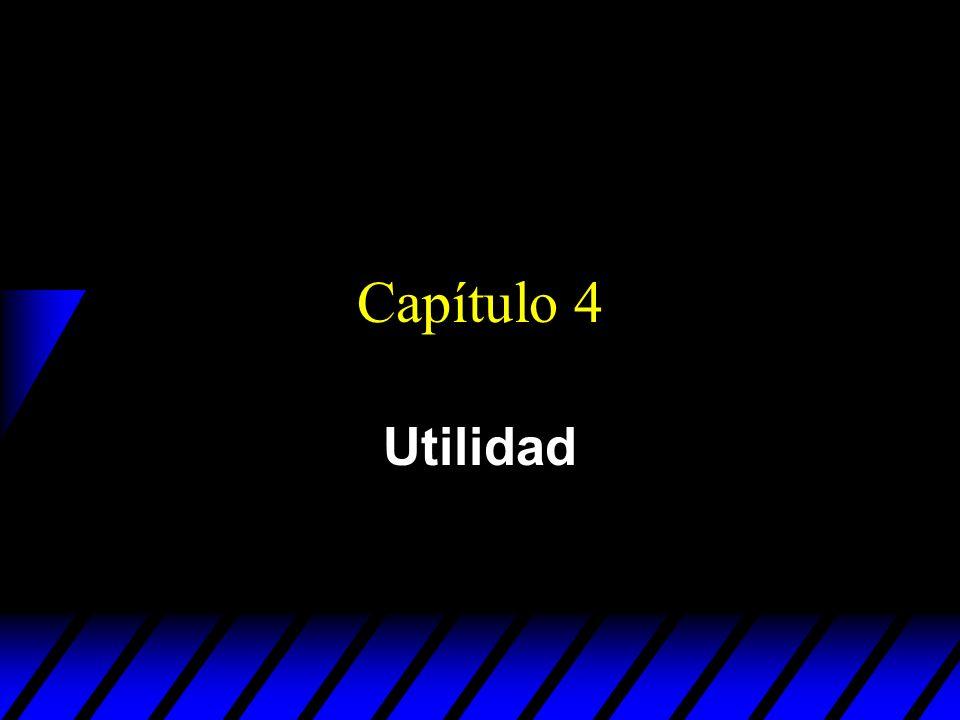 Capítulo 4 Utilidad