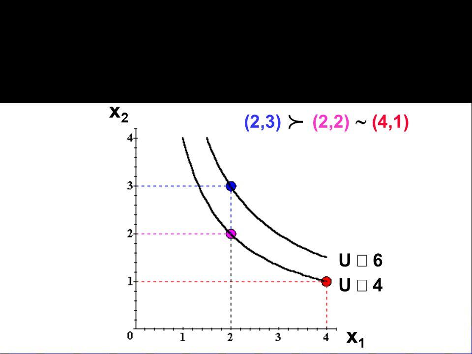 x2 (2,3) (2,2) ~ (4,1) p U º 6 U º 4 x1