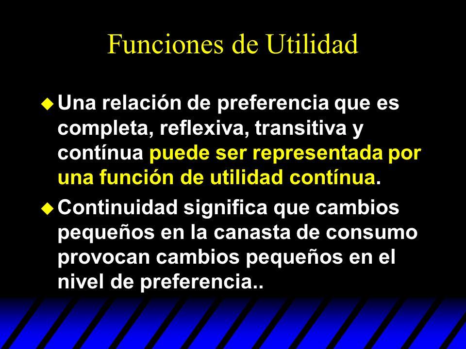 Funciones de Utilidad