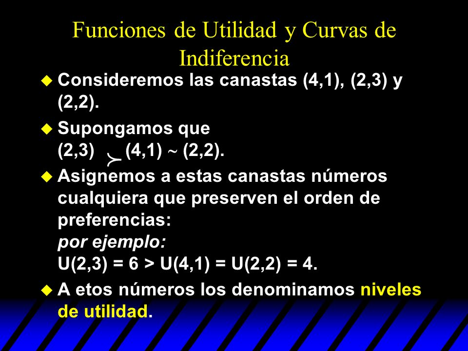 Funciones de Utilidad y Curvas de Indiferencia