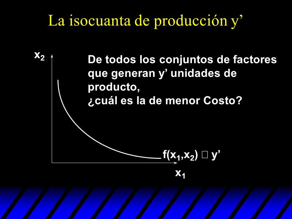 La isocuanta de producción y'