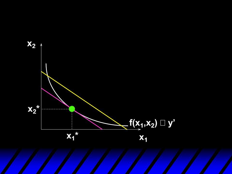 x2 x2* f(x1,x2) º y' x1* x1