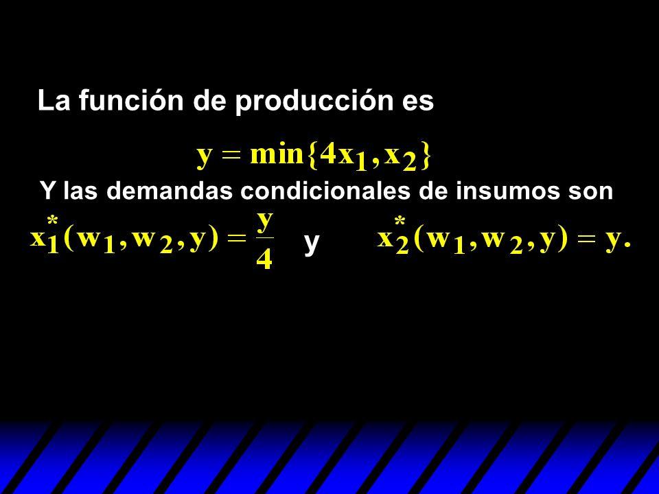La función de producción es