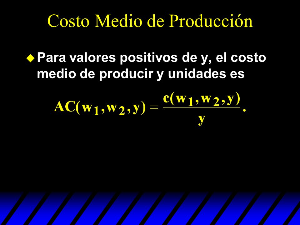 Costo Medio de Producción