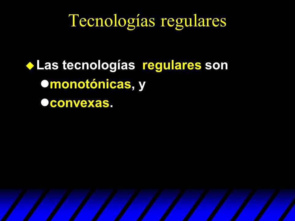 Tecnologías regulares