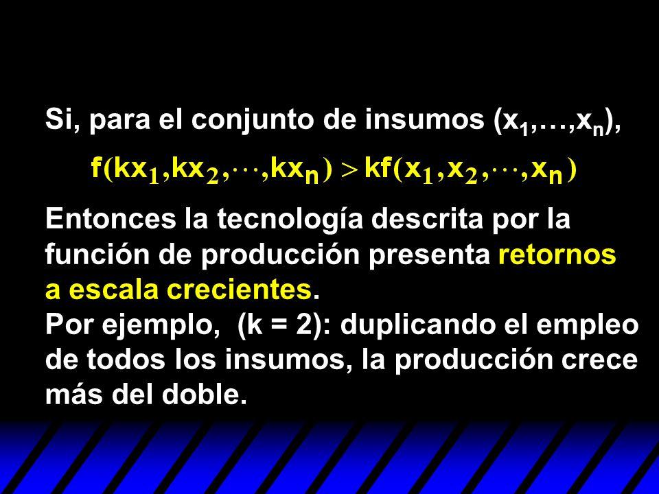Si, para el conjunto de insumos (x1,…,xn),