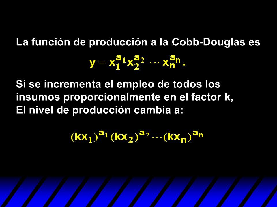 La función de producción a la Cobb-Douglas es