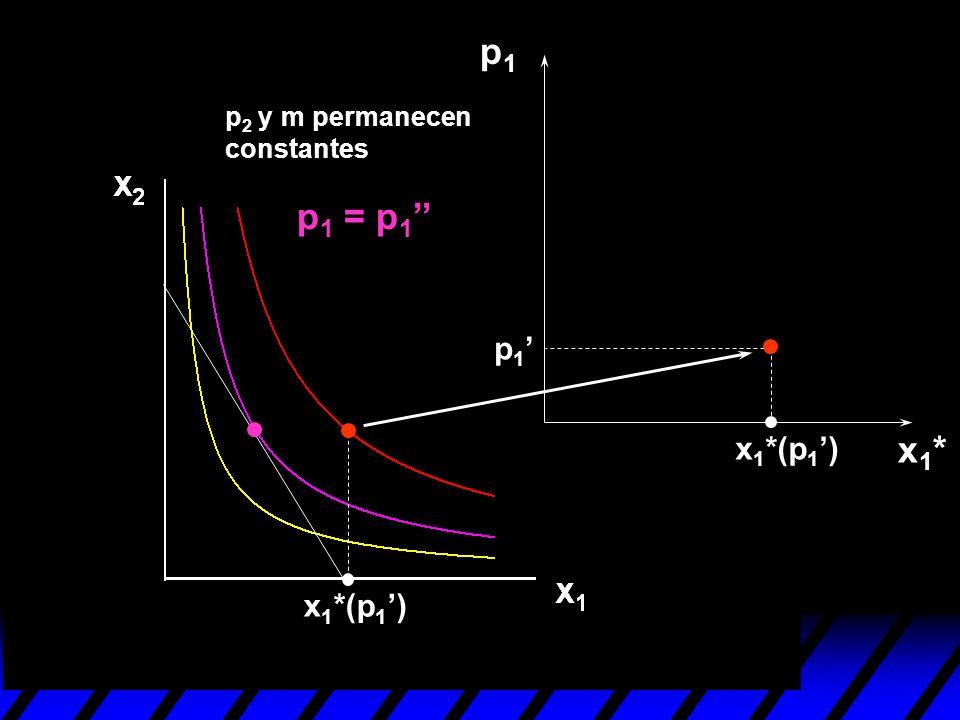 p1 p2 y m permanecen constantes p1 = p1'' p1' x1*(p1') x1* x1*(p1')