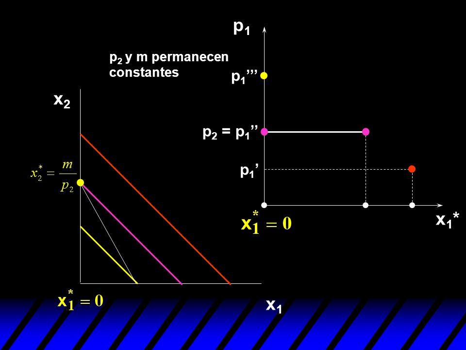 p1 p2 y m permanecen constantes p1''' x2 p2 = p1'' p1' x1* x1