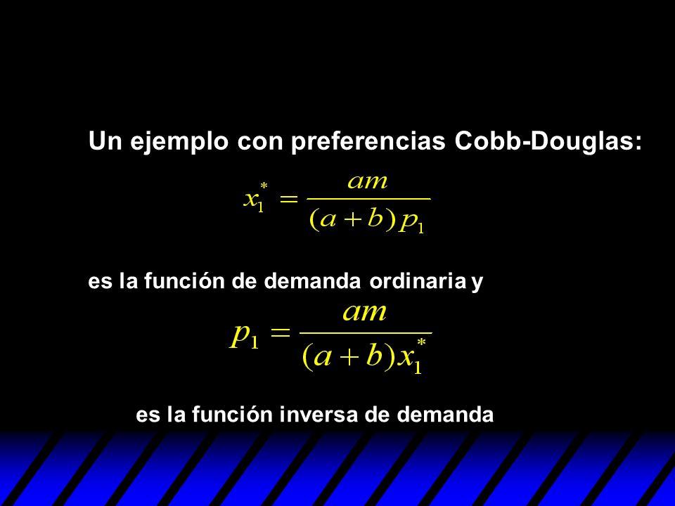 Un ejemplo con preferencias Cobb-Douglas:
