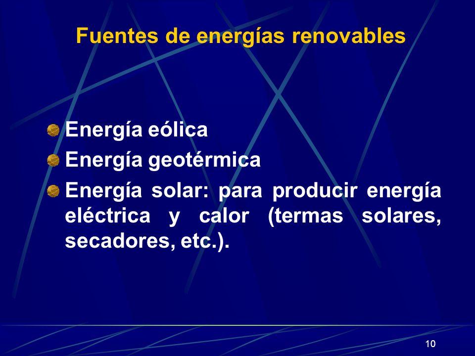 Fuentes de energías renovables