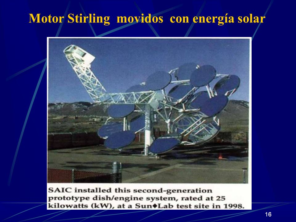 Motor Stirling movidos con energía solar
