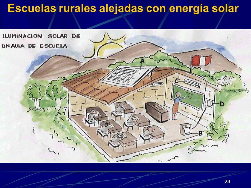 Escuelas rurales alejadas con energía solar