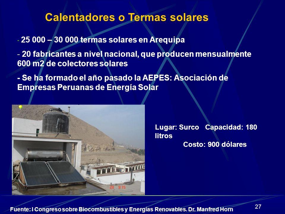 Calentadores o Termas solares