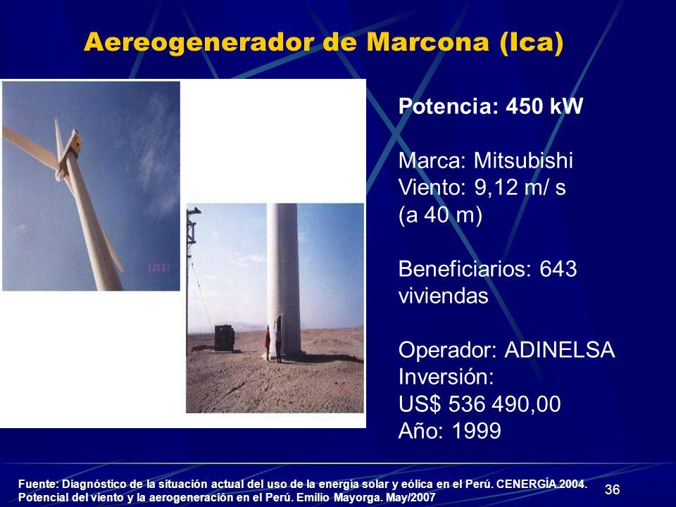 Aereogenerador de Marcona (Ica)