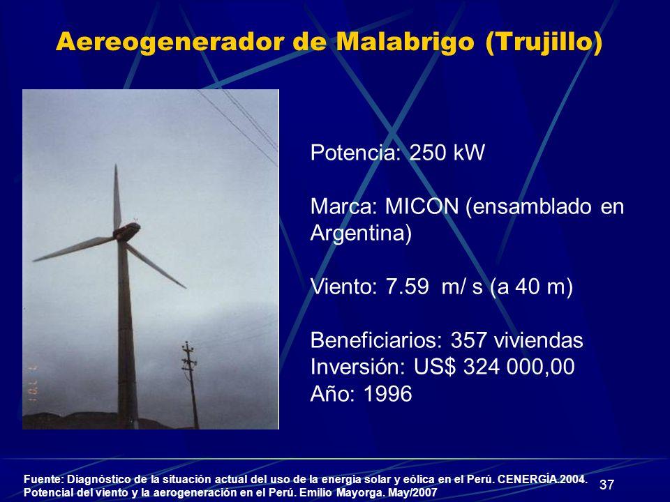 Aereogenerador de Malabrigo (Trujillo)