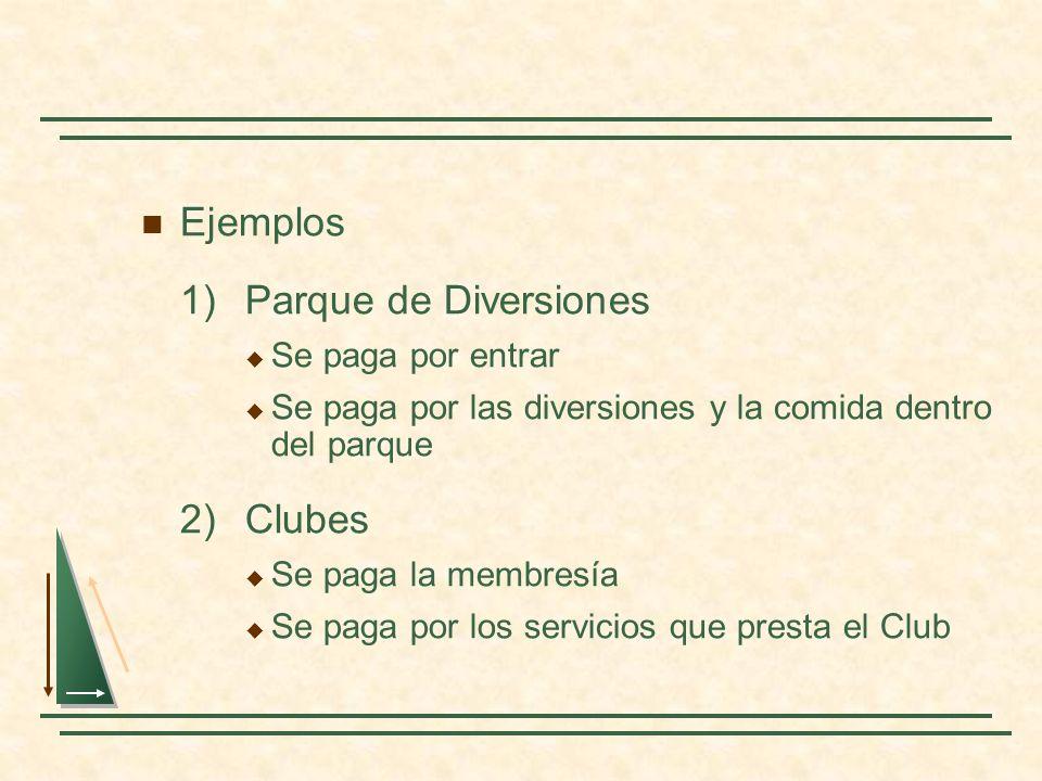 1) Parque de Diversiones