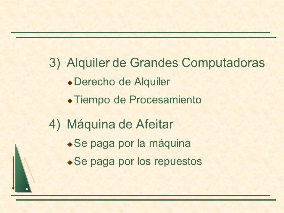 3) Alquiler de Grandes Computadoras