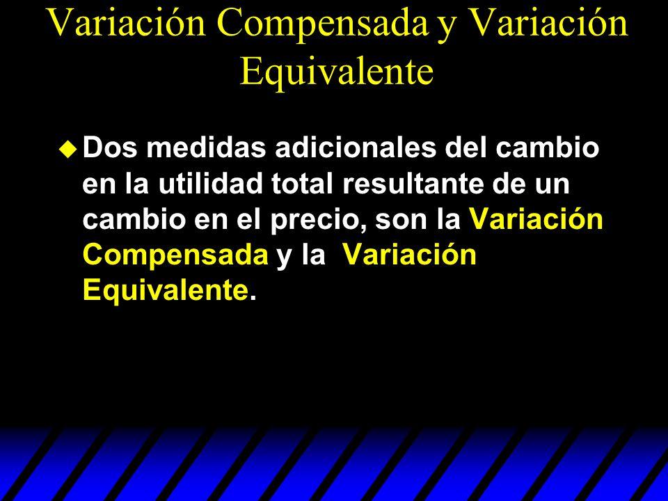 Variación Compensada y Variación Equivalente