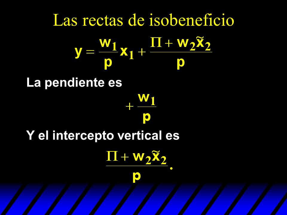 Las rectas de isobeneficio