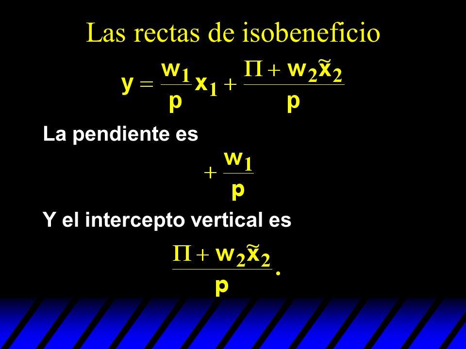 Las rectas de isobeneficio