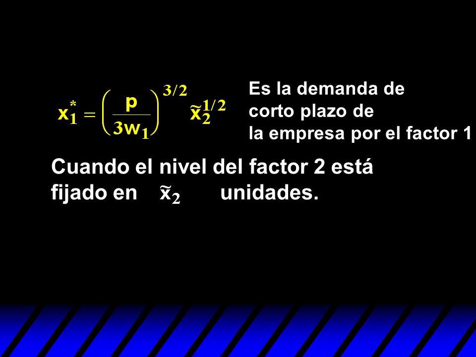 Cuando el nivel del factor 2 está fijado en unidades.
