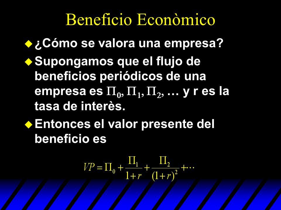 Beneficio Econòmico ¿Cómo se valora una empresa