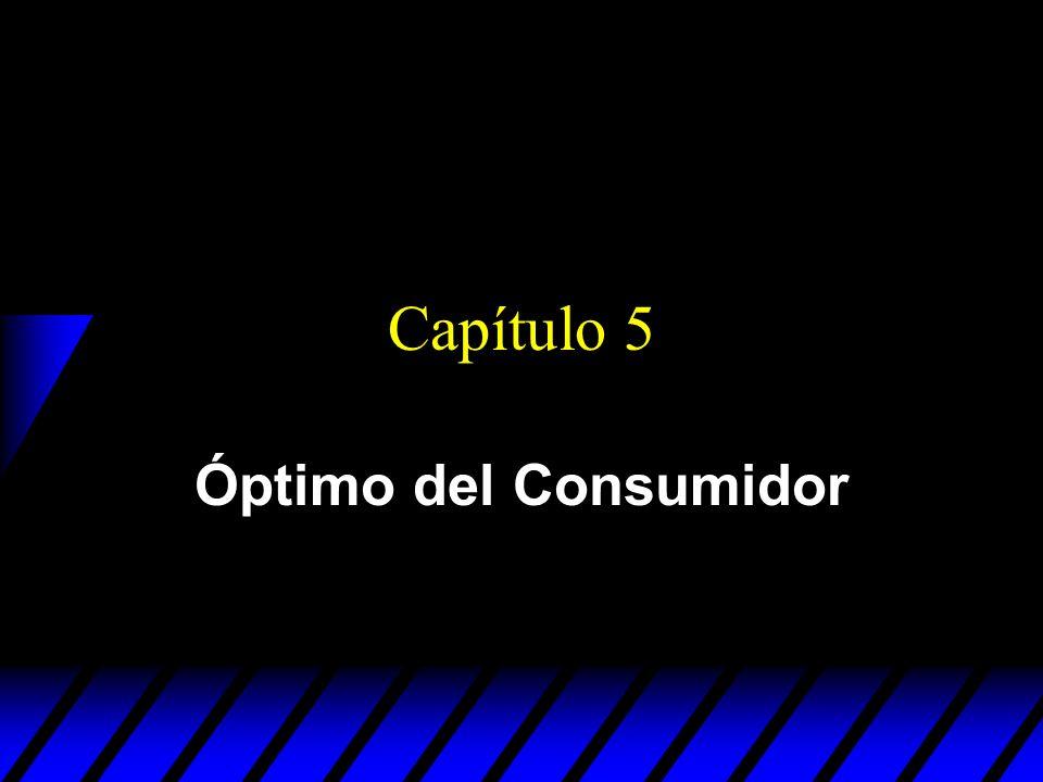 Capítulo 5 Óptimo del Consumidor