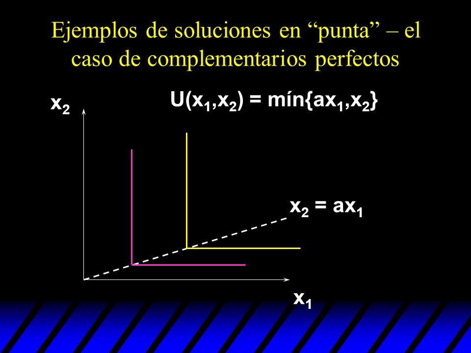Ejemplos de soluciones en punta – el caso de complementarios perfectos
