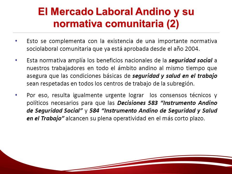 El Mercado Laboral Andino y su normativa comunitaria (2)