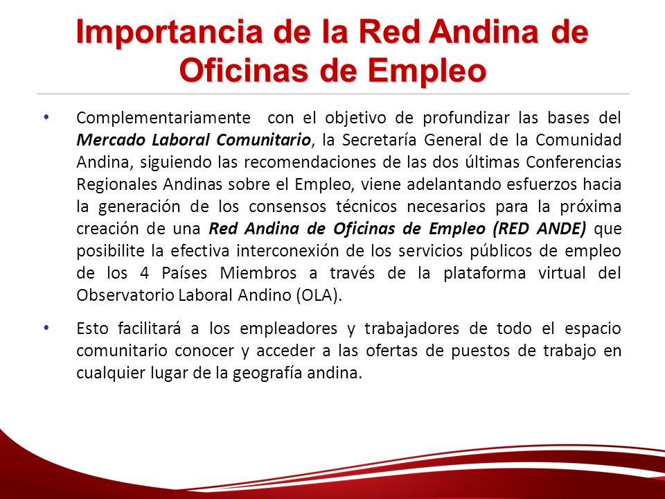 Importancia de la Red Andina de Oficinas de Empleo