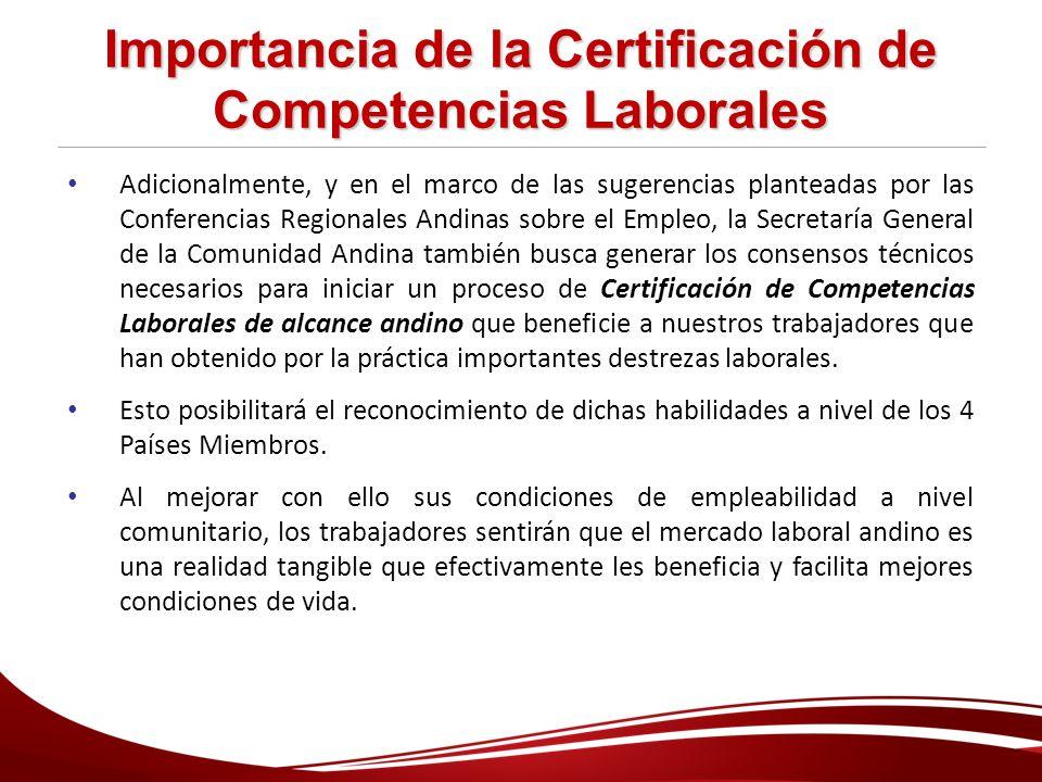 Importancia de la Certificación de Competencias Laborales