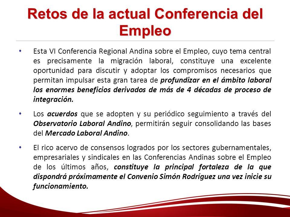 Retos de la actual Conferencia del Empleo
