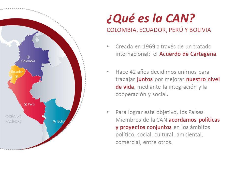 ¿Qué es la CAN COLOMBIA, ECUADOR, PERÚ Y BOLIVIA