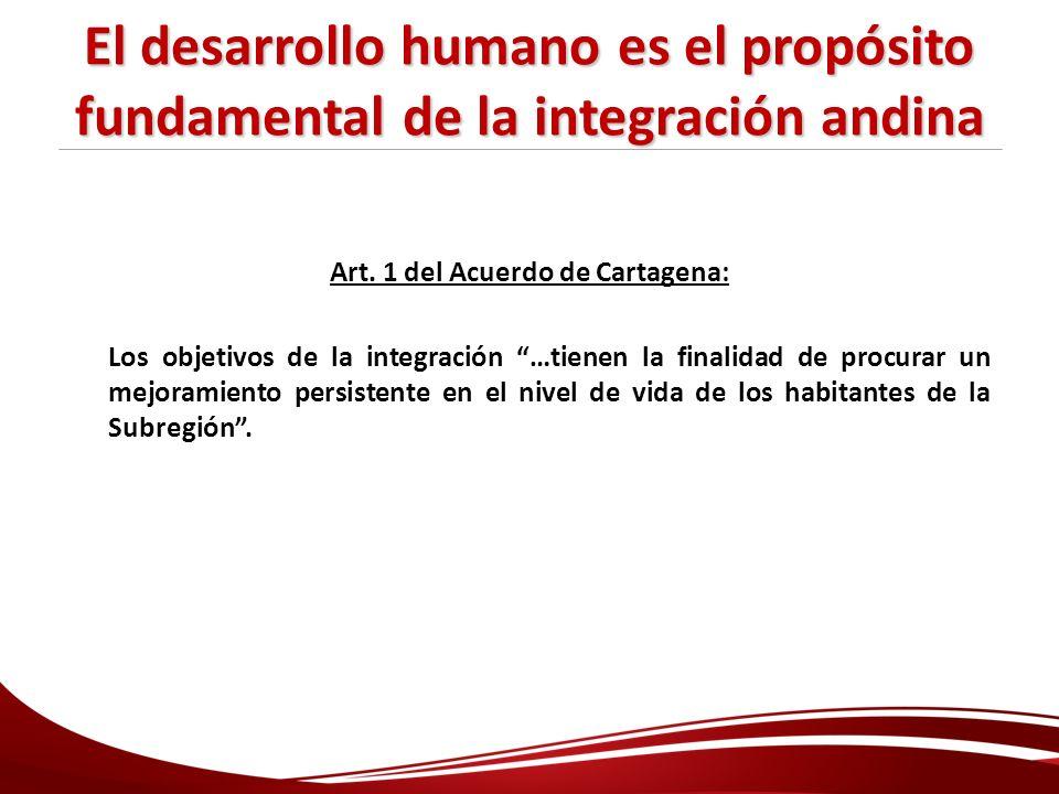 Art. 1 del Acuerdo de Cartagena:
