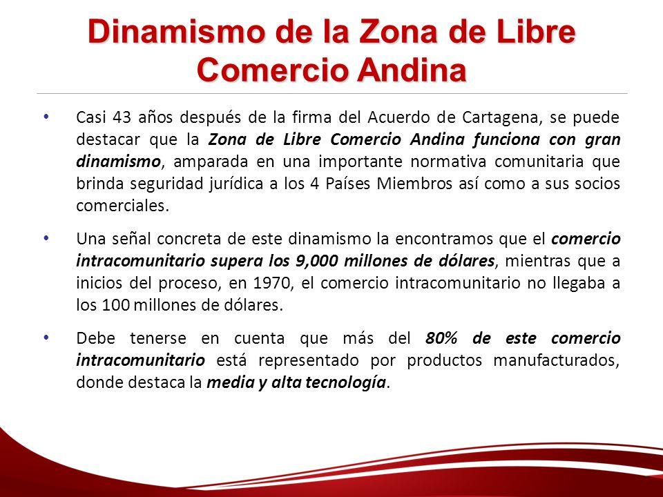Dinamismo de la Zona de Libre Comercio Andina
