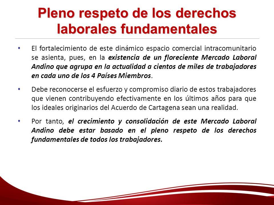 Pleno respeto de los derechos laborales fundamentales