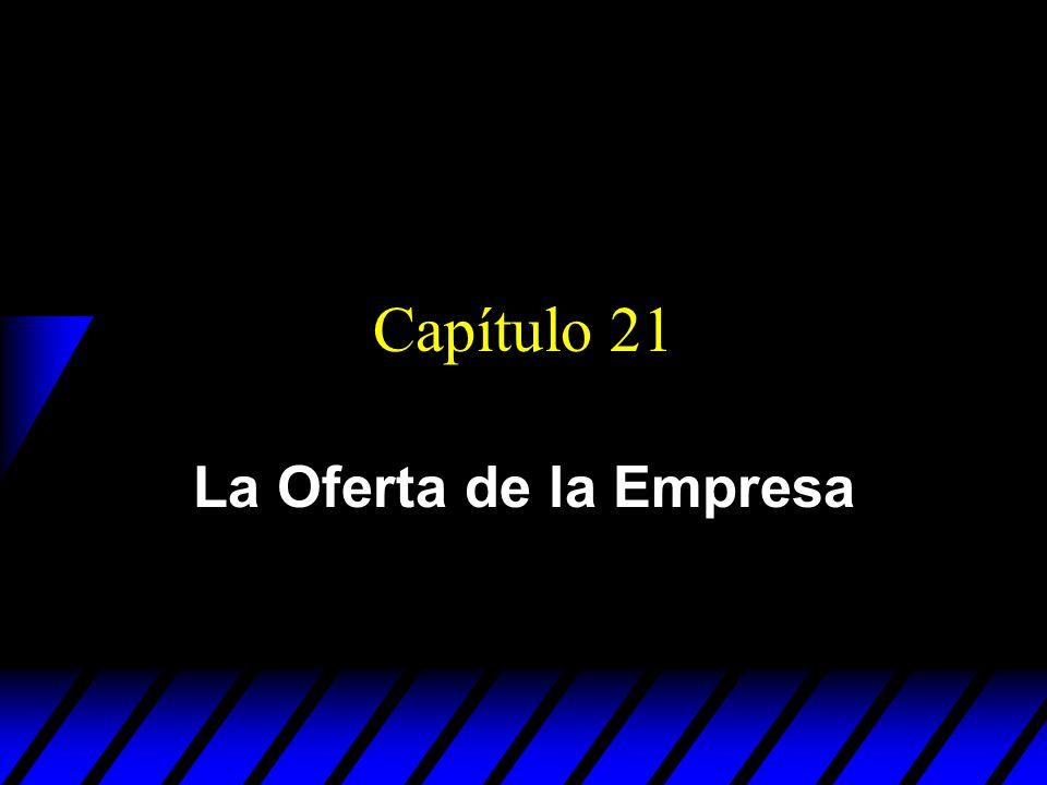 Capítulo 21 La Oferta de la Empresa