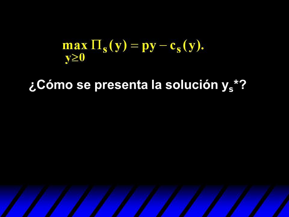 ¿Cómo se presenta la solución ys*