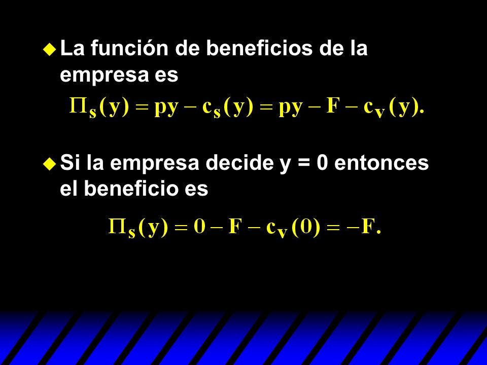La función de beneficios de la empresa es