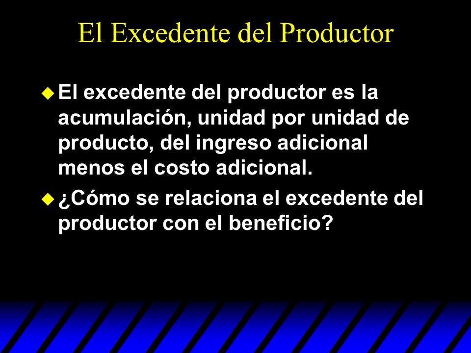 El Excedente del Productor