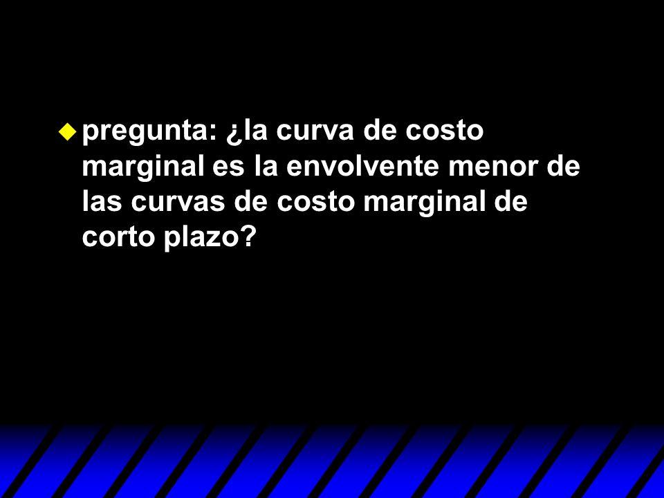pregunta: ¿la curva de costo marginal es la envolvente menor de las curvas de costo marginal de corto plazo