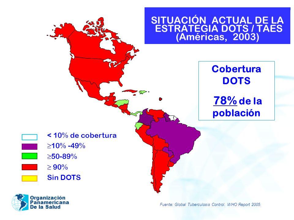 SITUACIÓN ACTUAL DE LA ESTRATEGIA DOTS / TAES (Américas, 2003)