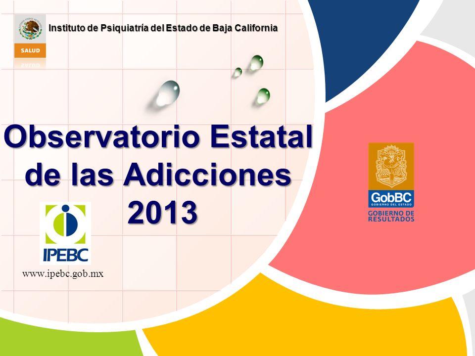 Observatorio Estatal de las Adicciones 2013