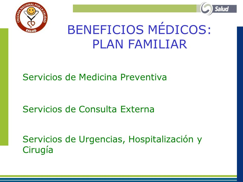 BENEFICIOS MÉDICOS: PLAN FAMILIAR